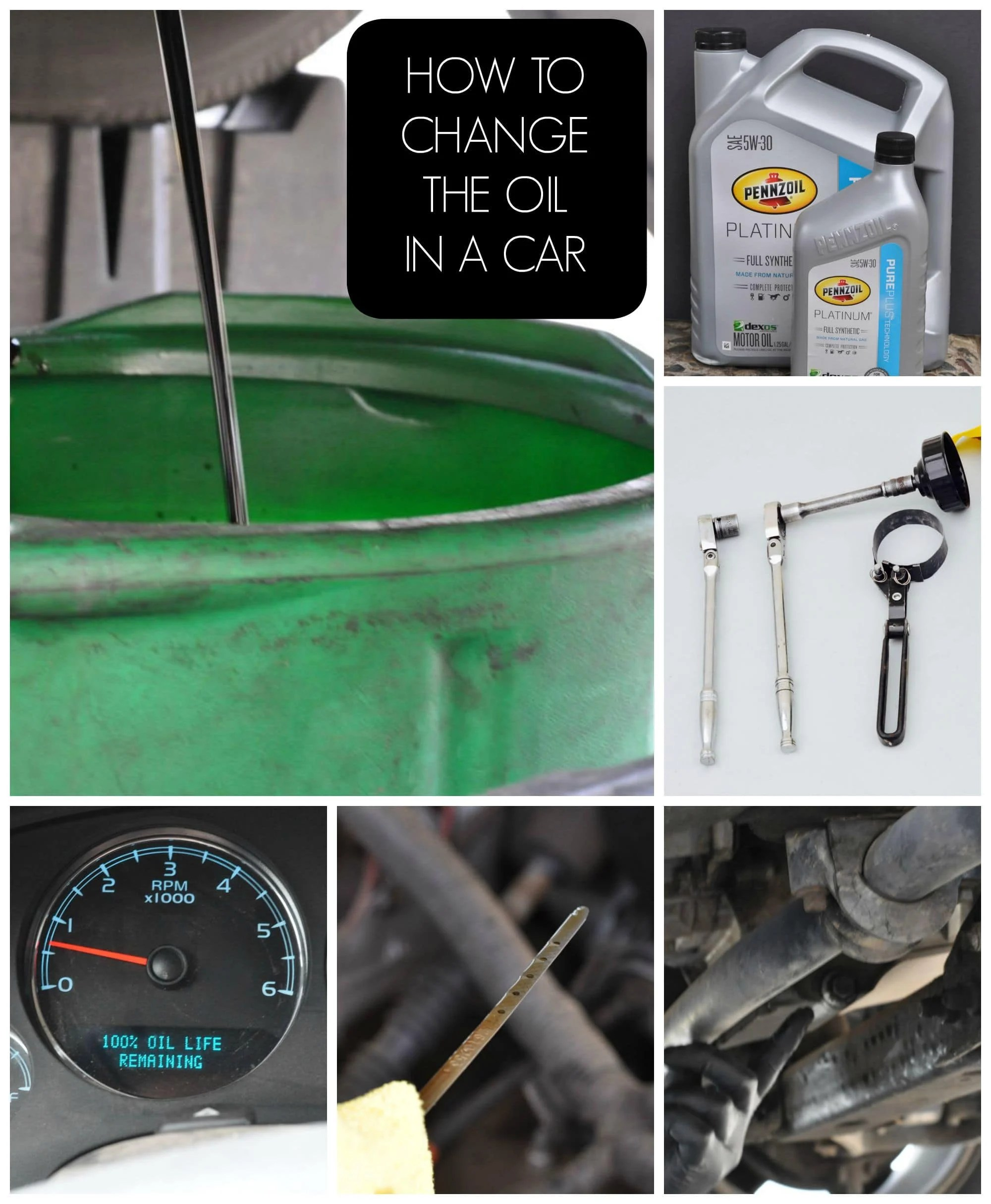 How to change the oil in a car
