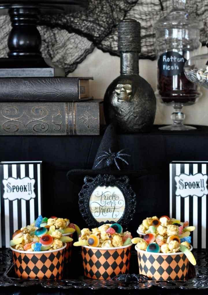 Halloween Popcorn Food Idea