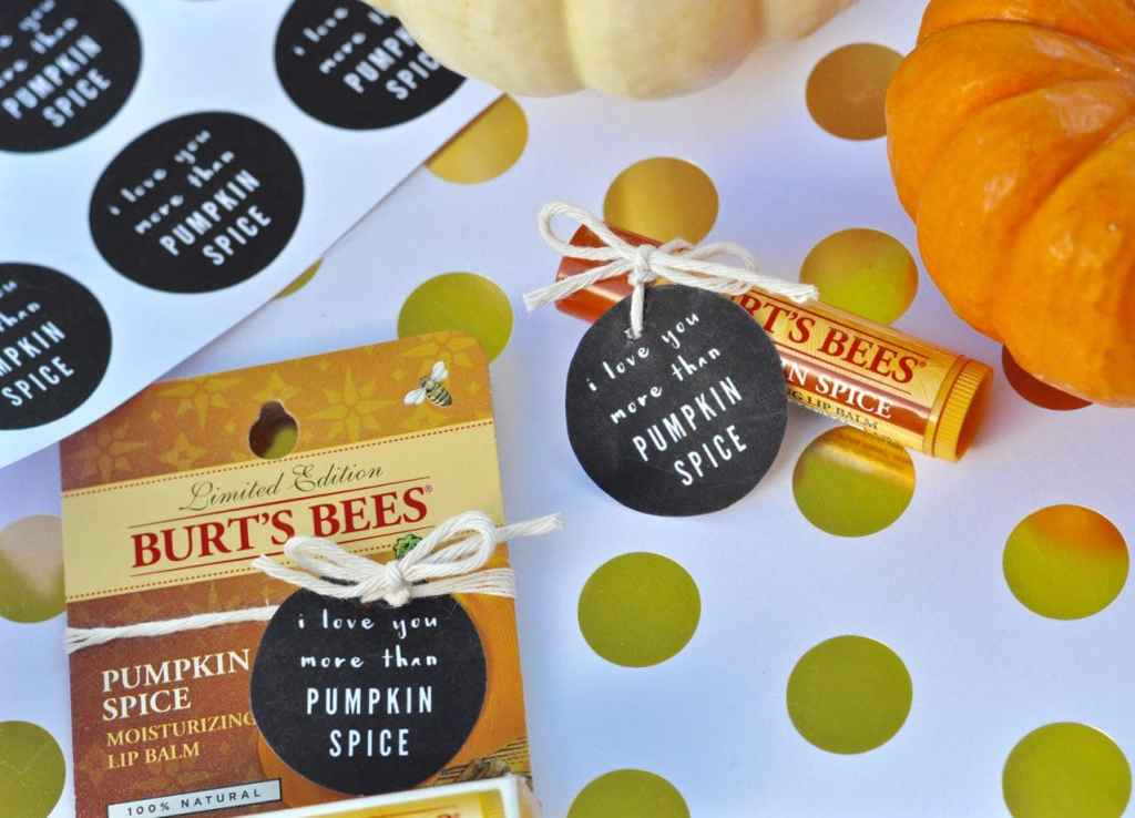 Burt's Bees Pumpkin Spice lip balm and free printable