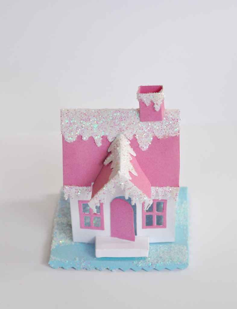 DIY Winter Village House from paper