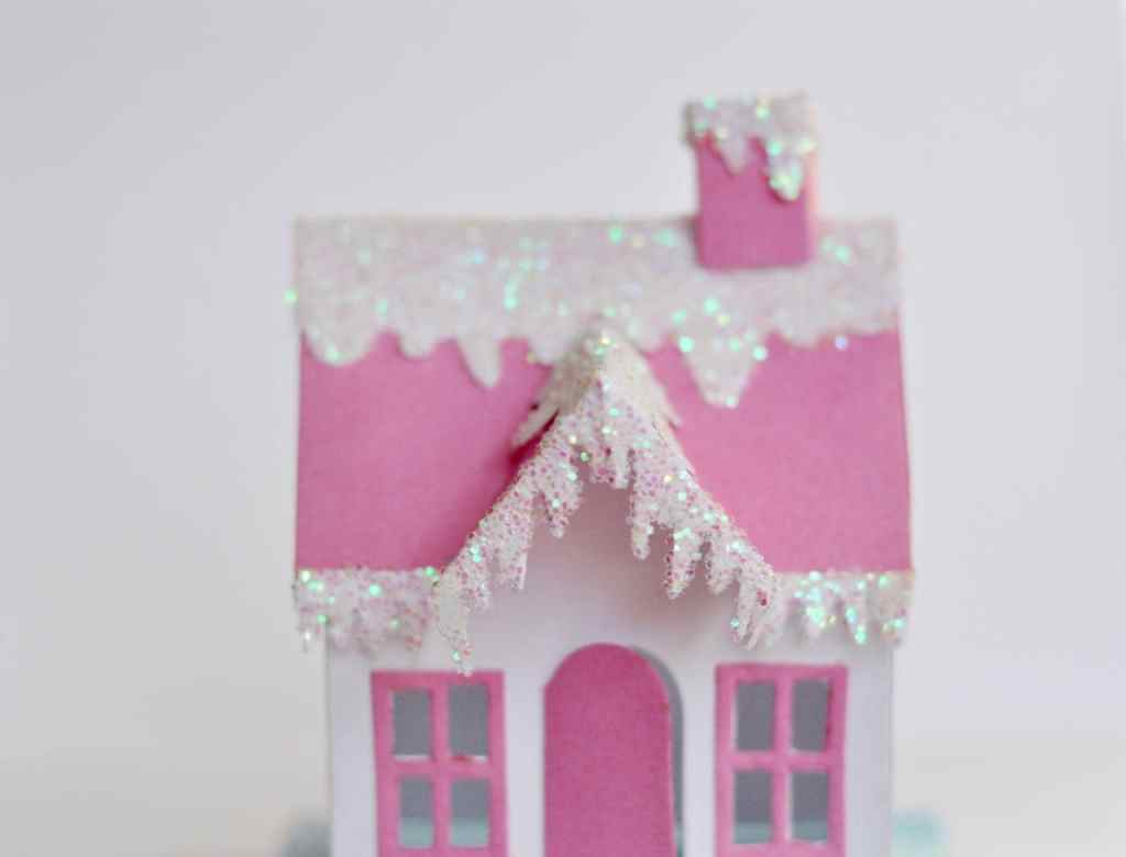 DIY Winter Village House with Sizzix