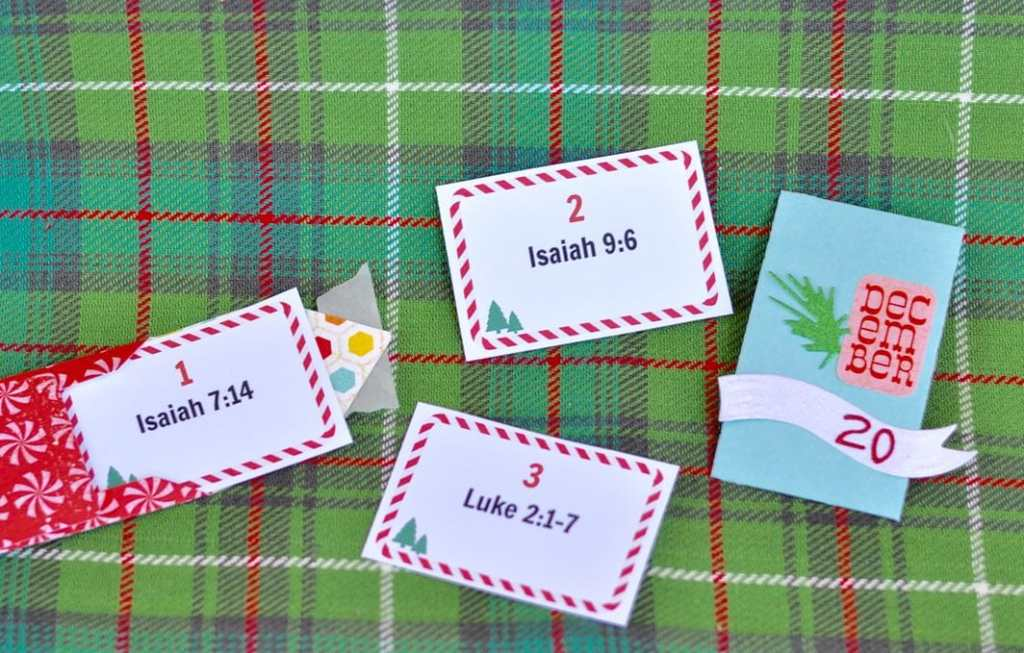 Free printable Christmas advent scripture cards.  Read a few verses a day to remember the real season for the season!