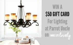 $50 Lighting Gift Card Giveaway!