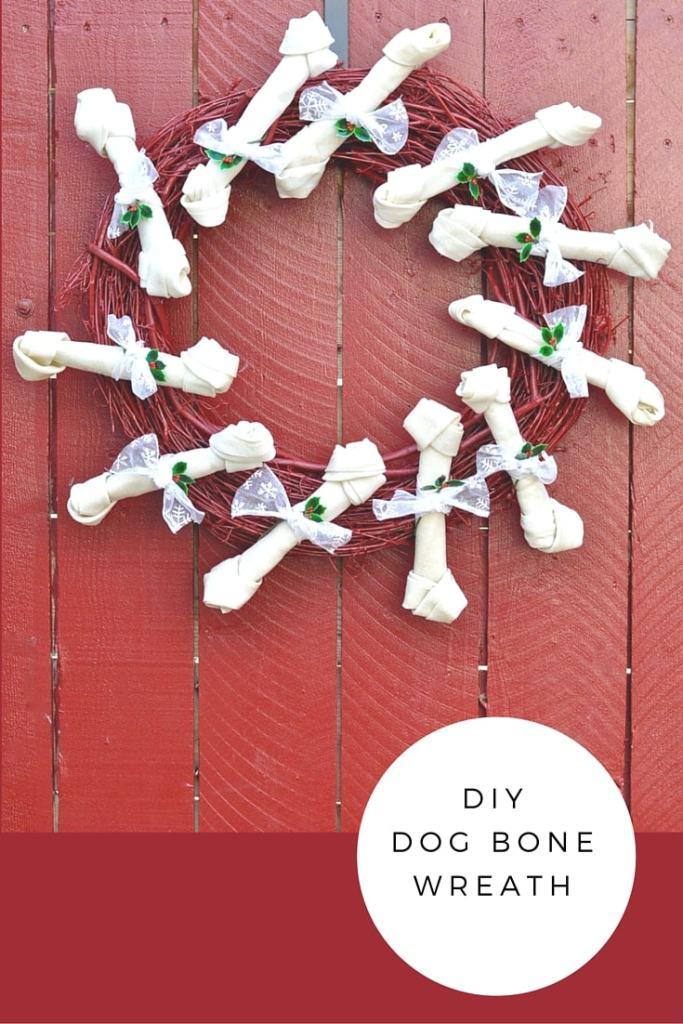 DIY Dog bone wreath for Christmas