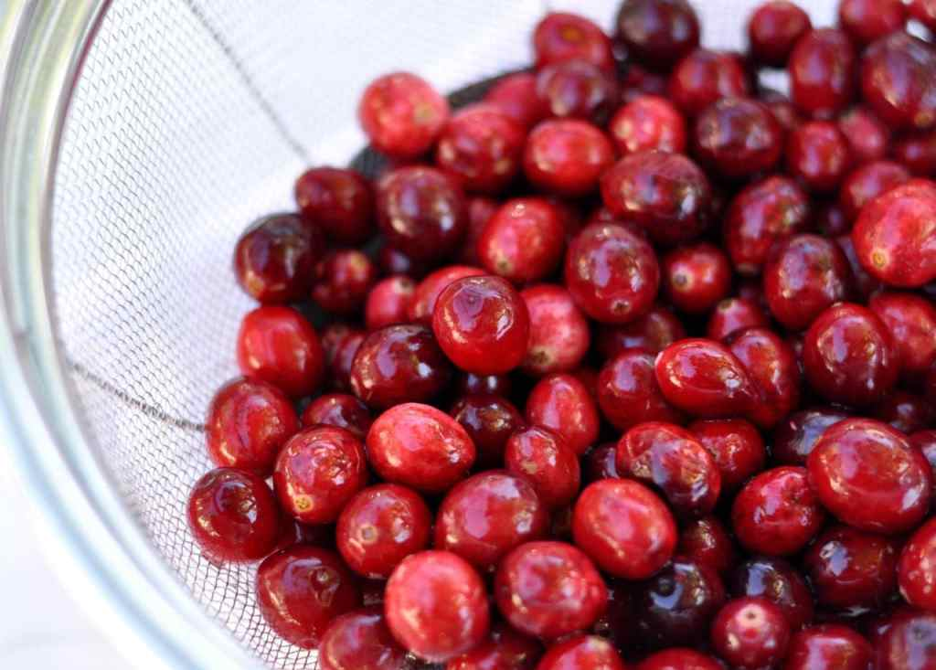 Fresh cranberries for orange cranberry sauce