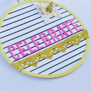 Paper Embroidery Hoop Card