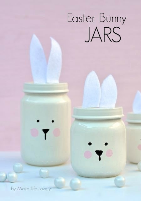 DIY Easter jars from baby food jars