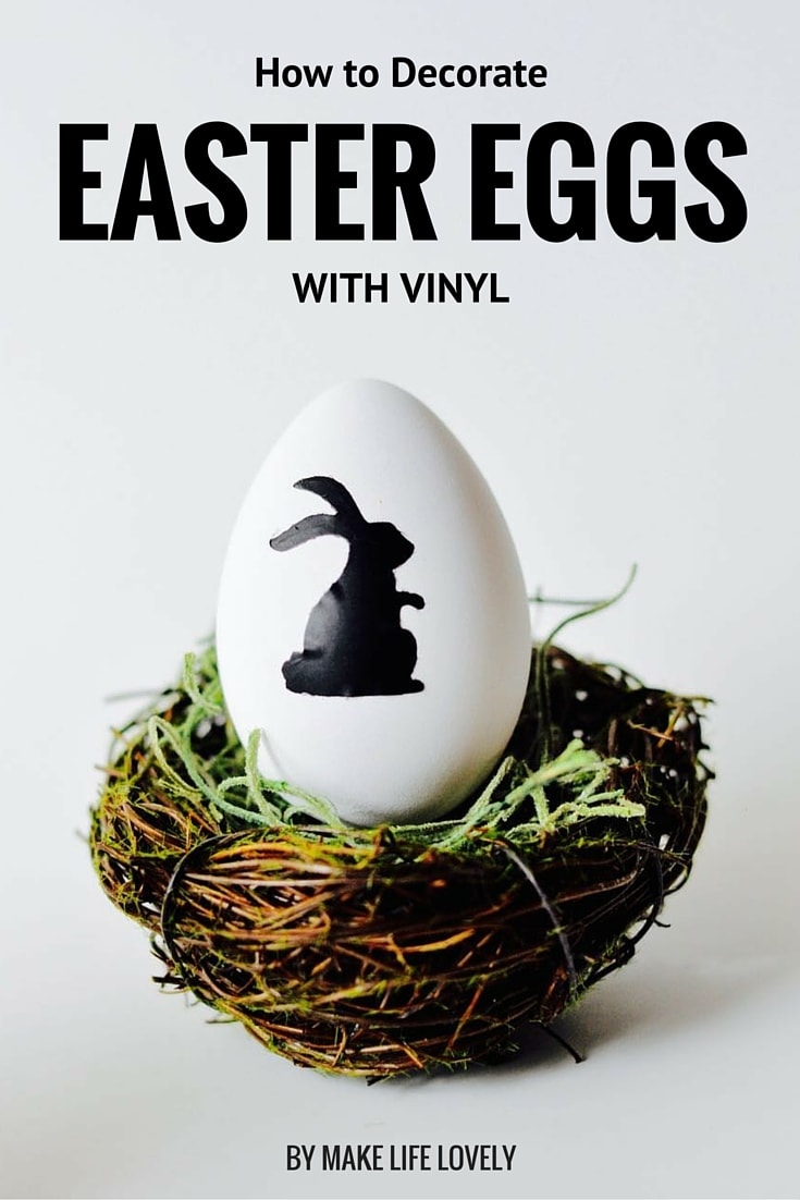 Vinyl Easter egg decorating is simple and looks great! Click to see how to make this fun Easter craft.