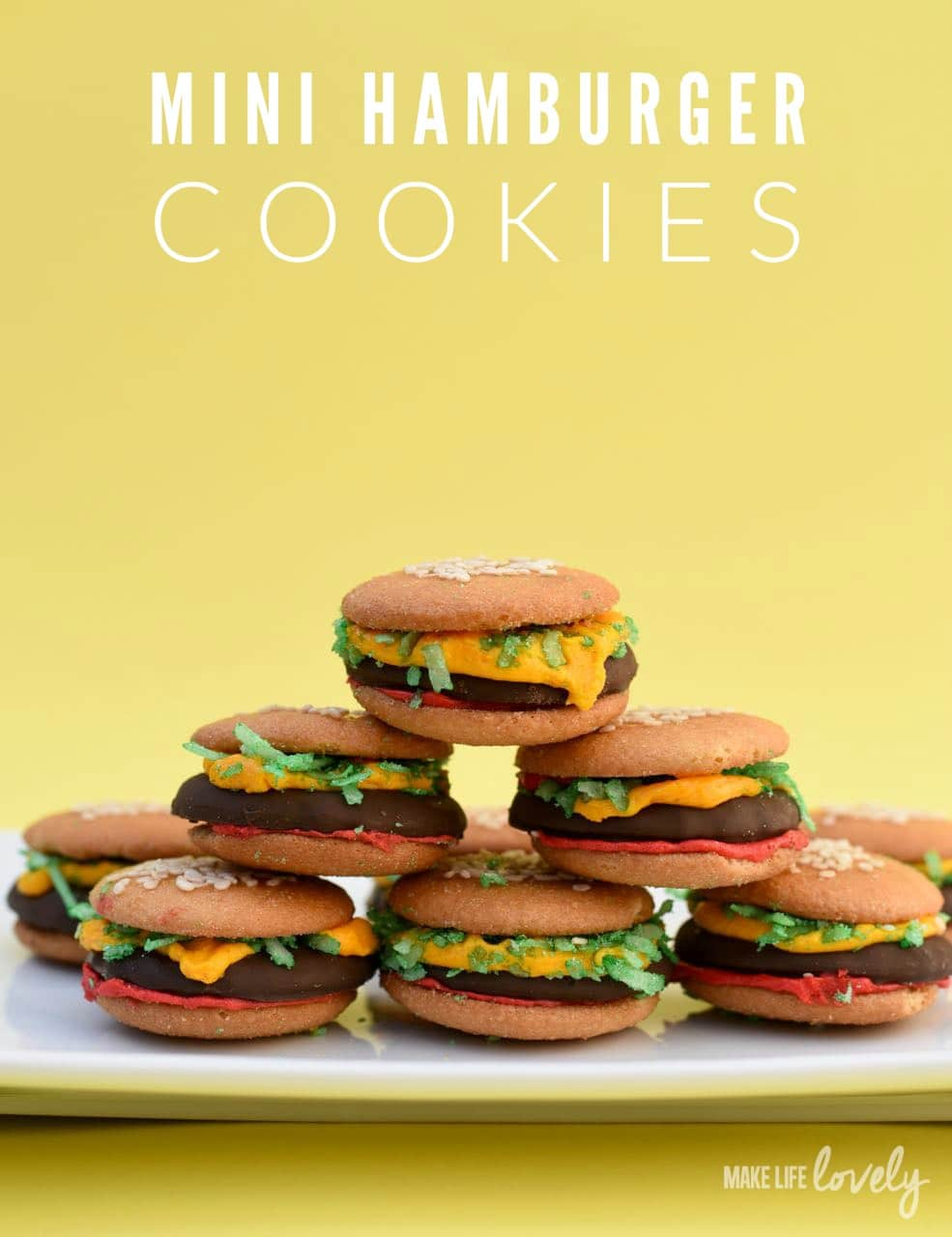 These mini hamburger cookies are adorable, taste delicious, and are so ...