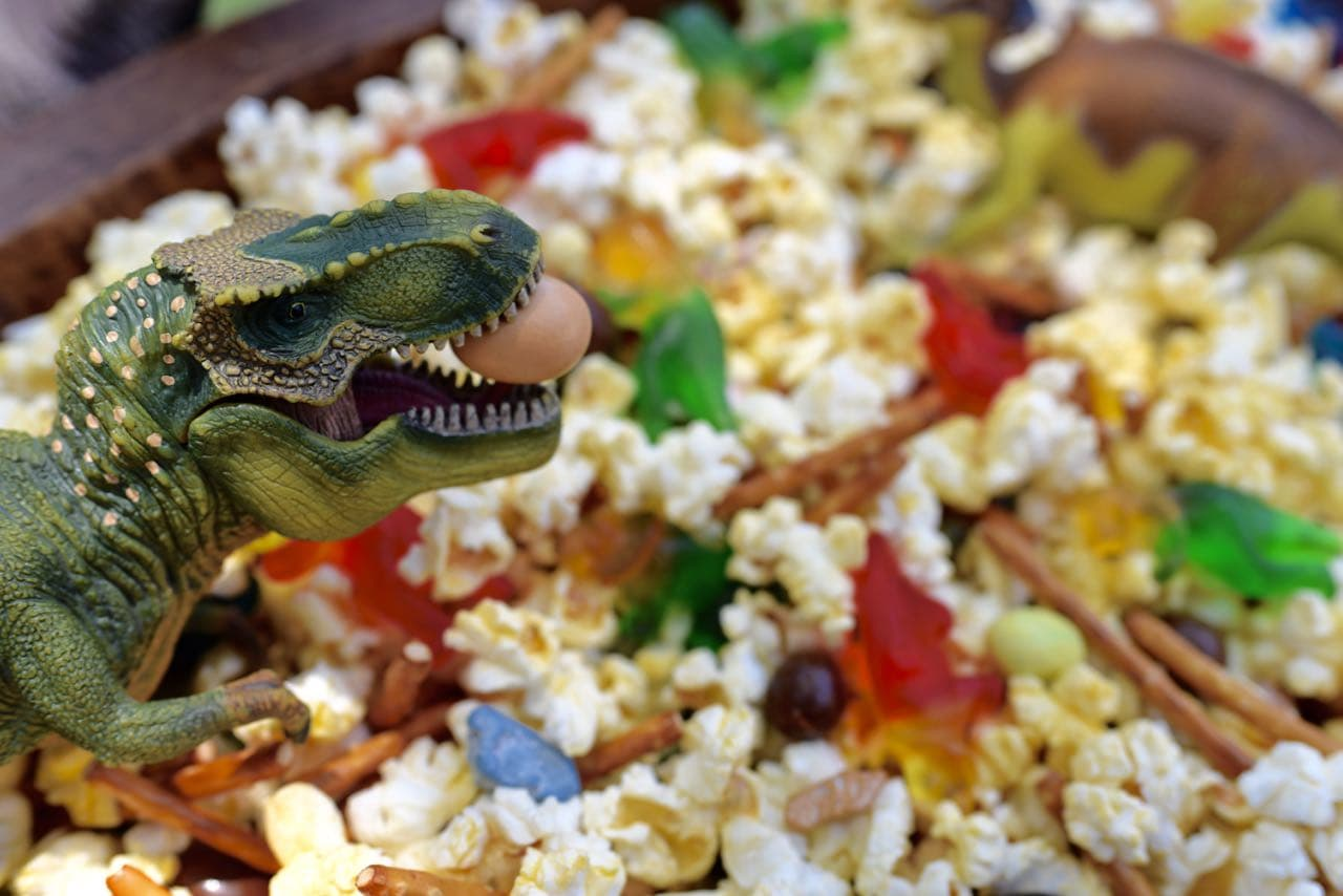Dinosaur snack mix recipe