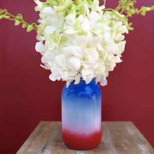 Fourth of July Craft Mason Jar Vase
