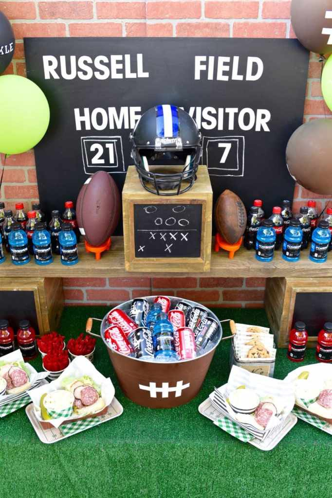 Football party table diy drink tub make life