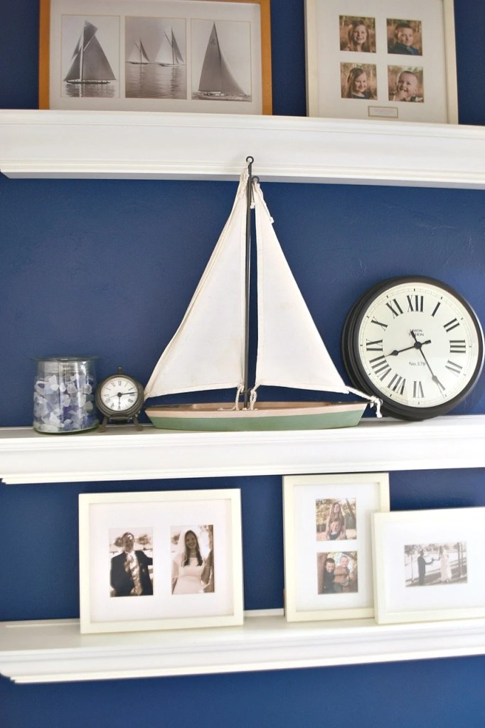 navy blue accent wall in bedroom - make life lovely