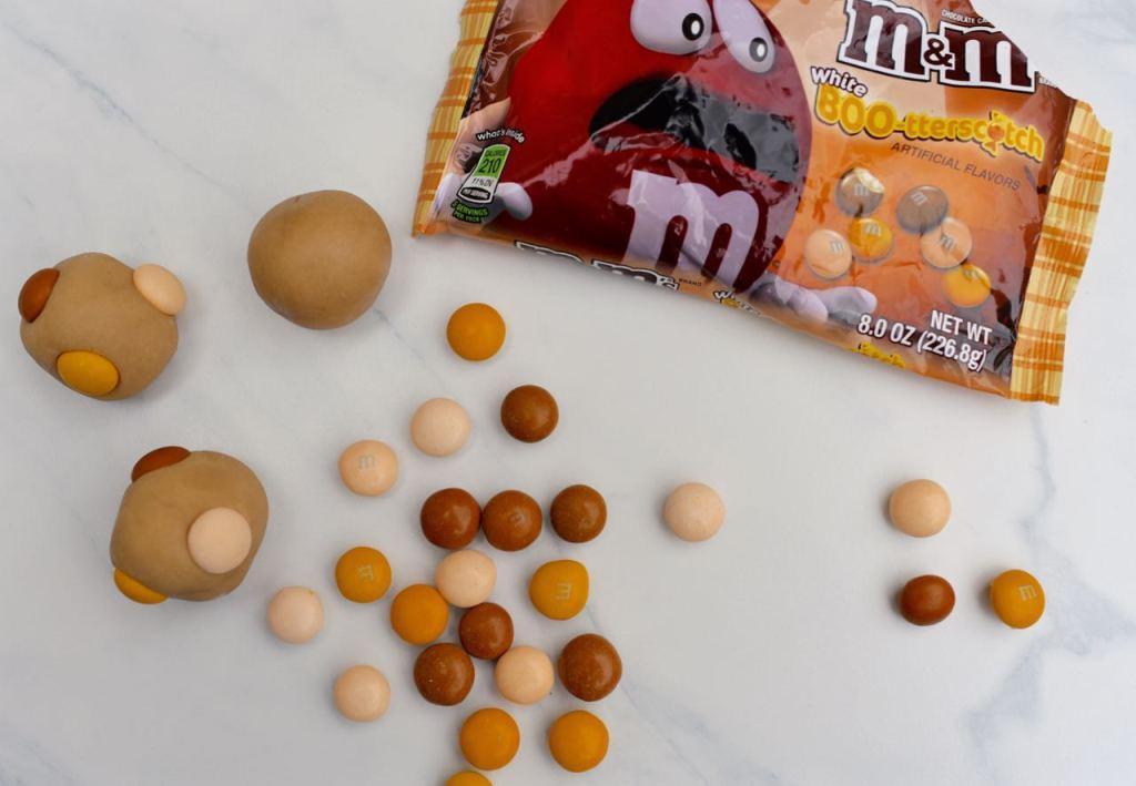 Butterscotch cookie dough pops Halloween food