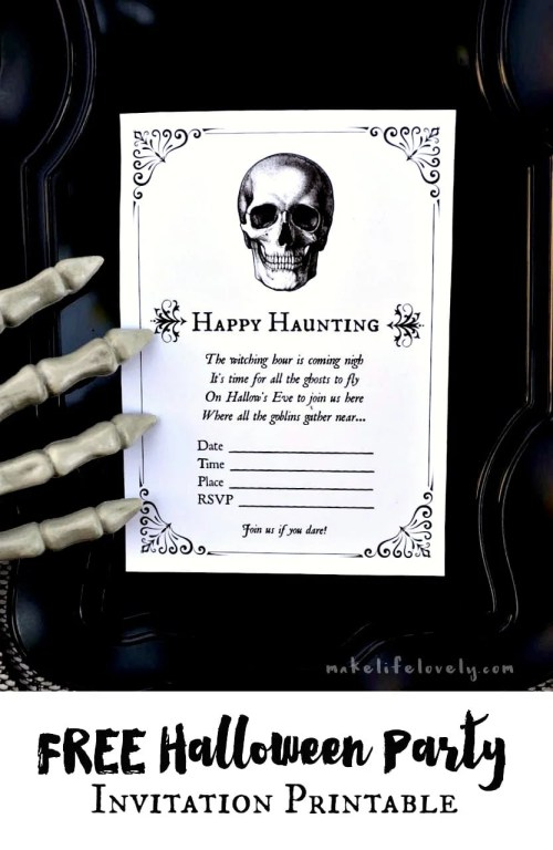 Medium Of Halloween Party Invitations