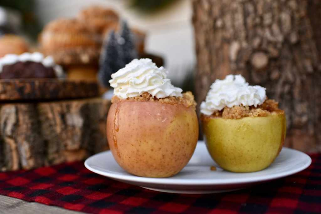 Apple pie baked in an apple. Genius!