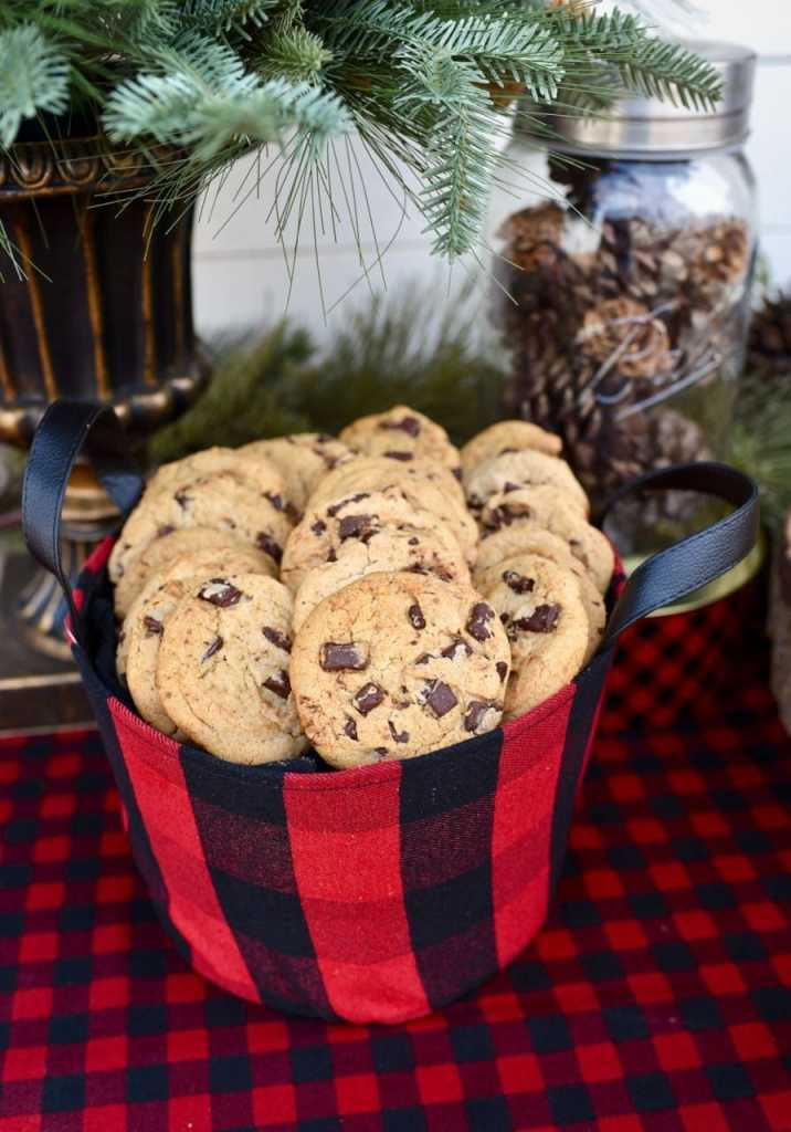 Cookies at a rustic plaid holiday party