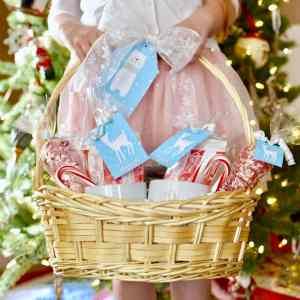 Hot Cocoa Gift Basket + Cute Printable Tags