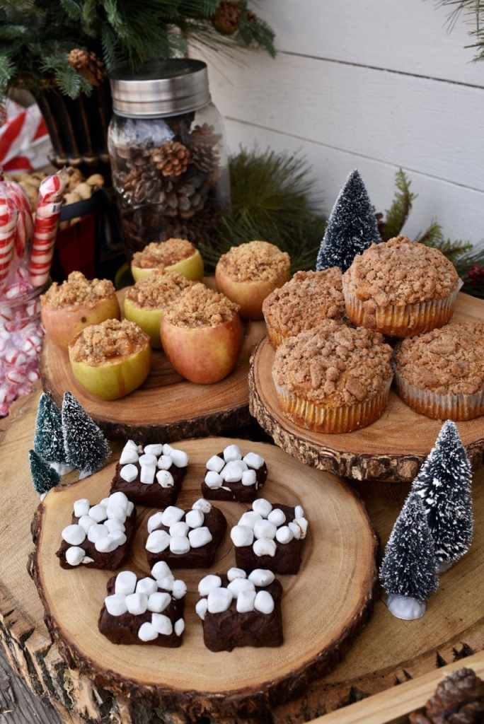 Rustic holiday party food