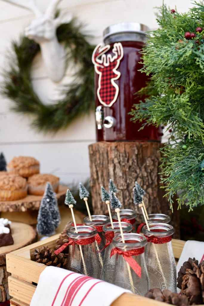 Rustic holiday party with deer and buffalo check