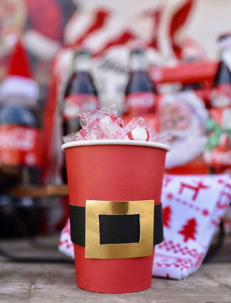 Santa belt treat cups tutorial
