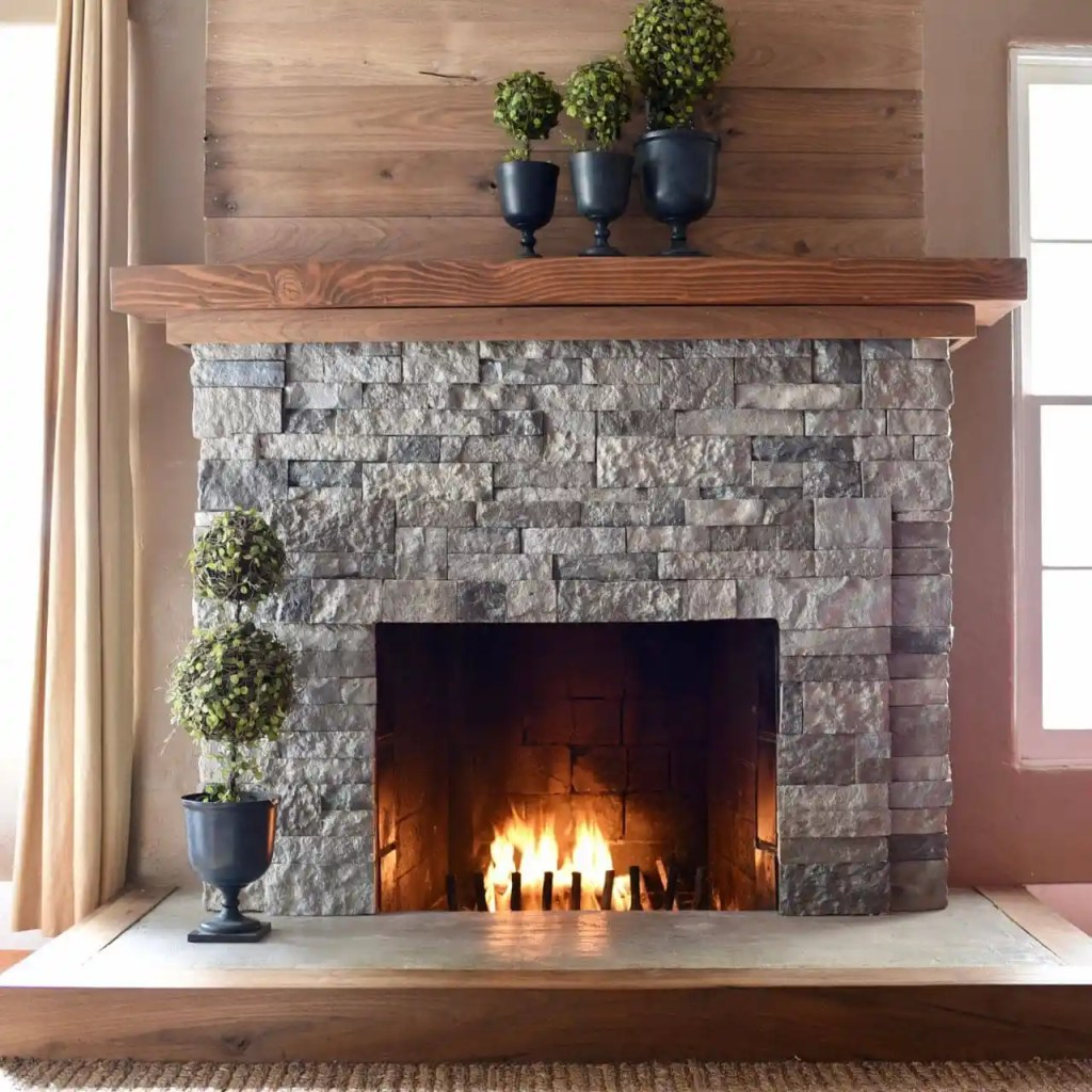 Airstone fireplace makeover. Transform your old fireplace with some AirStone and this easy DIY tutorial!