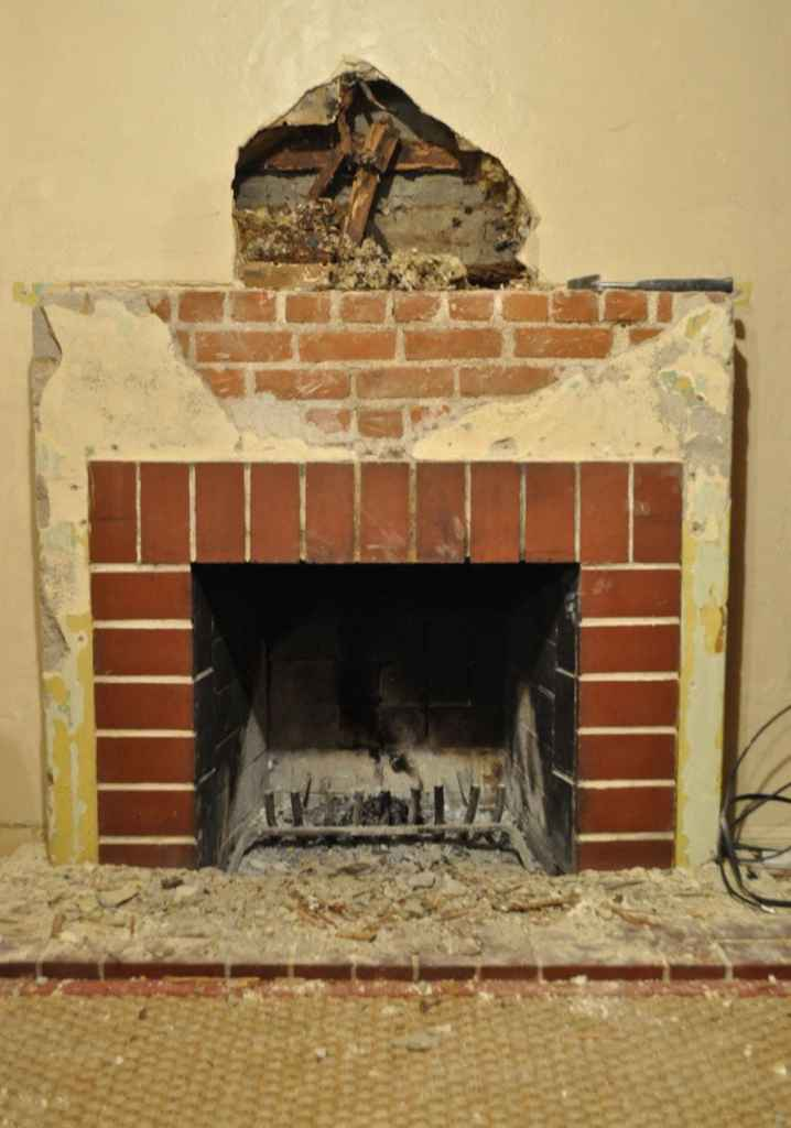 Brick fireplace renovation and DIY