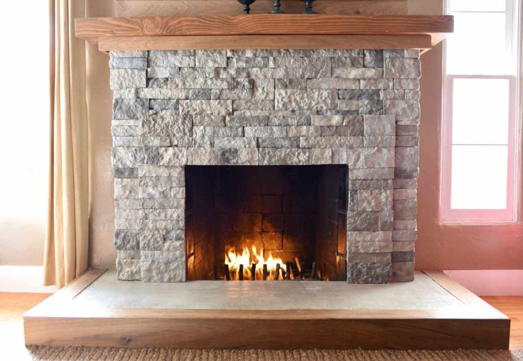 Fireplace makeover with AirStone