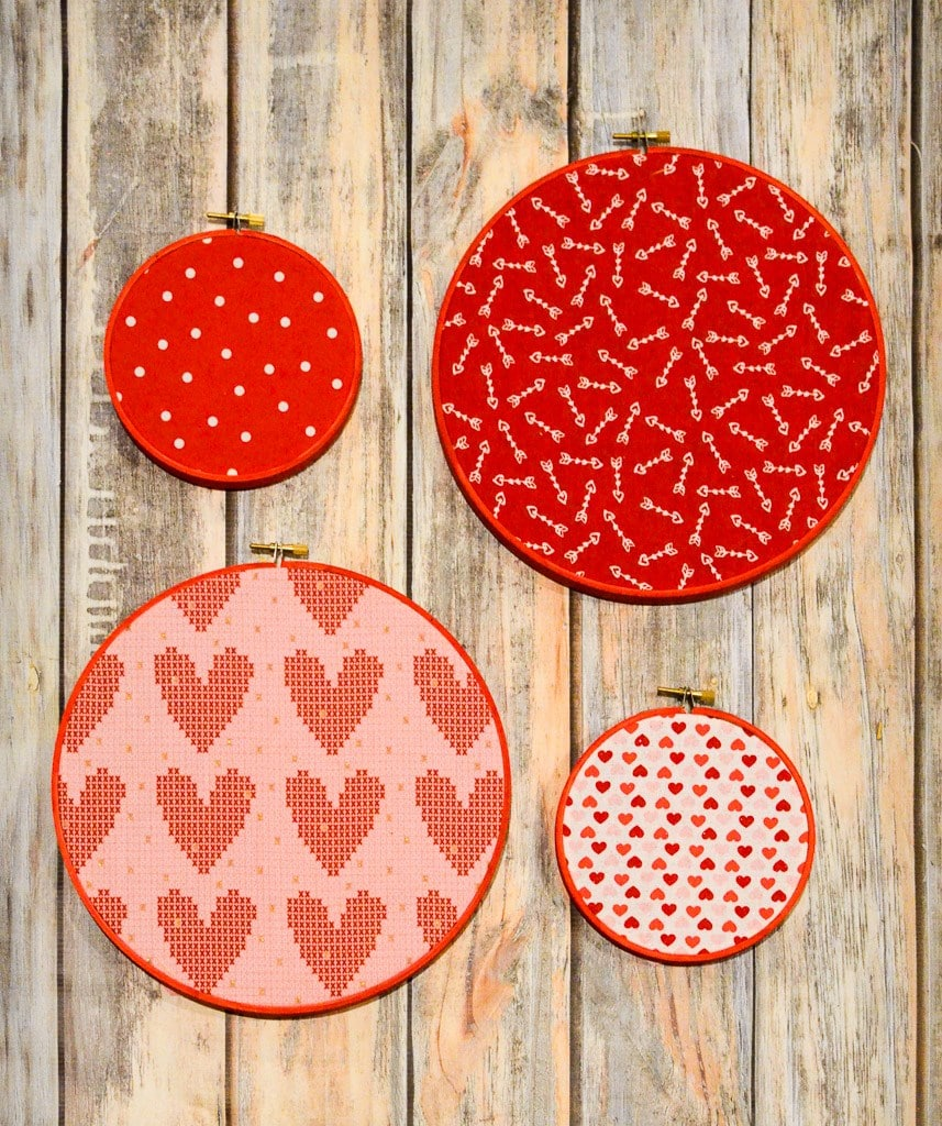Valentine's Day Hoop Art
