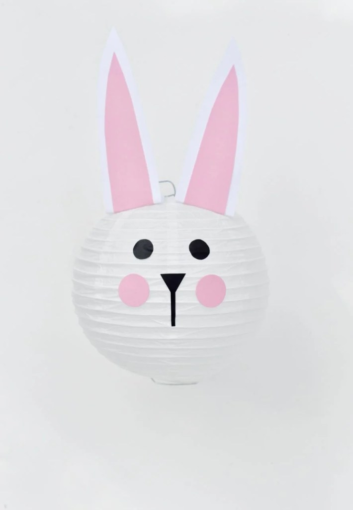 Easter bunny paper lantern tutorial