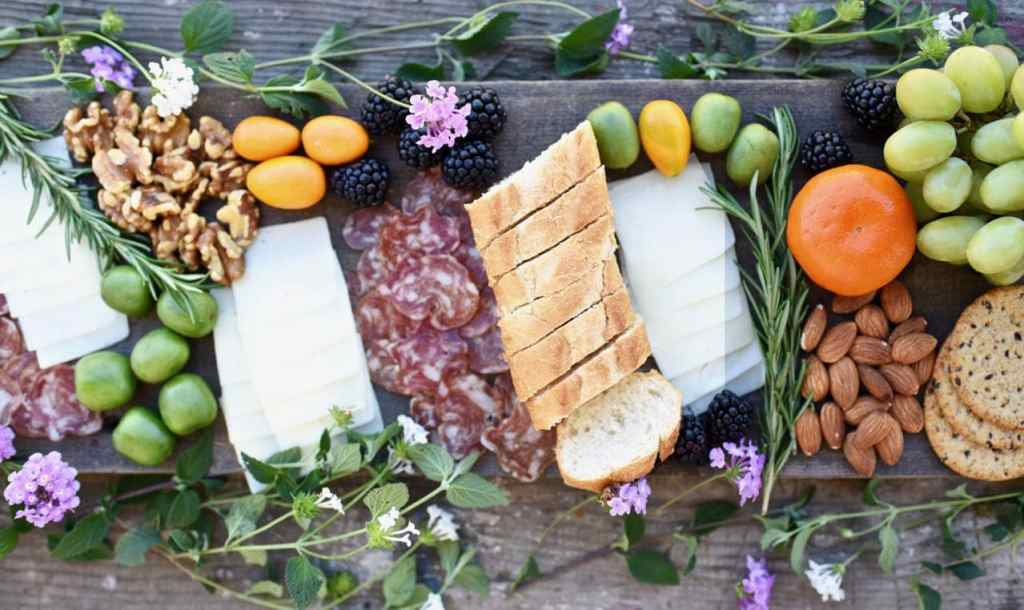 Create a lovely charcuterie and cheese plate with these easy directions and tutorial.