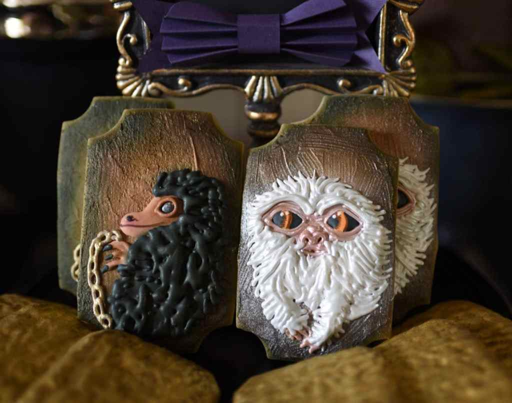 Niffler and demiguise sugar cookies at Fantastic Beasts and Where to Find Them party