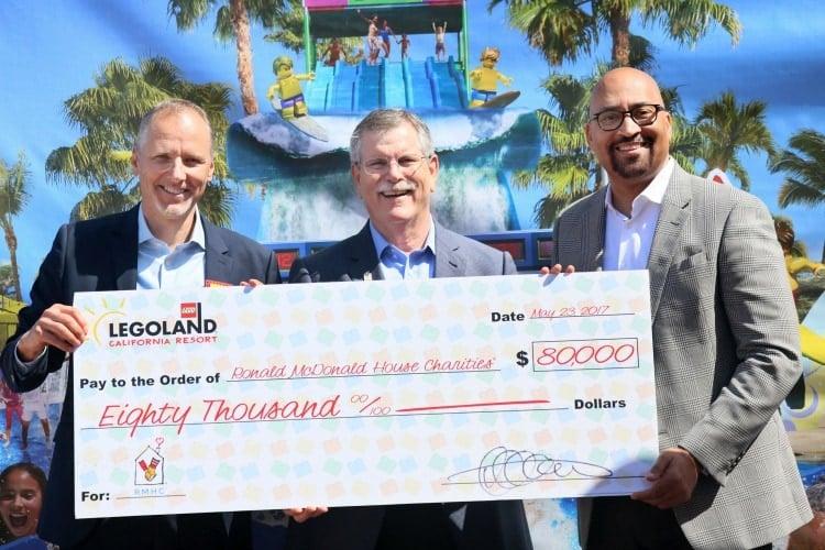 LEGOLAND California Resort Donates $80,000 to Ronald McDonald House Charities