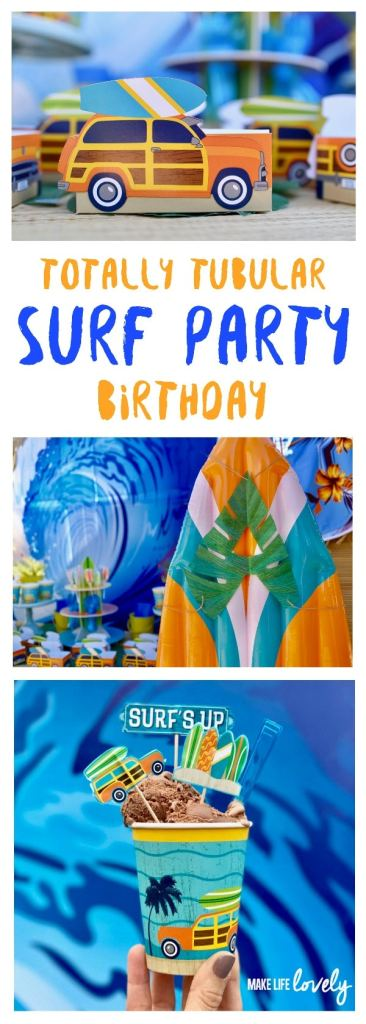 Beach surf party for boys, perfect for a summer birthday, pool party, and more!