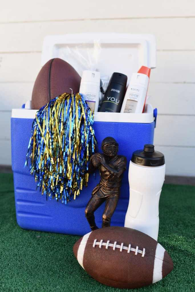 DIY football gift basket