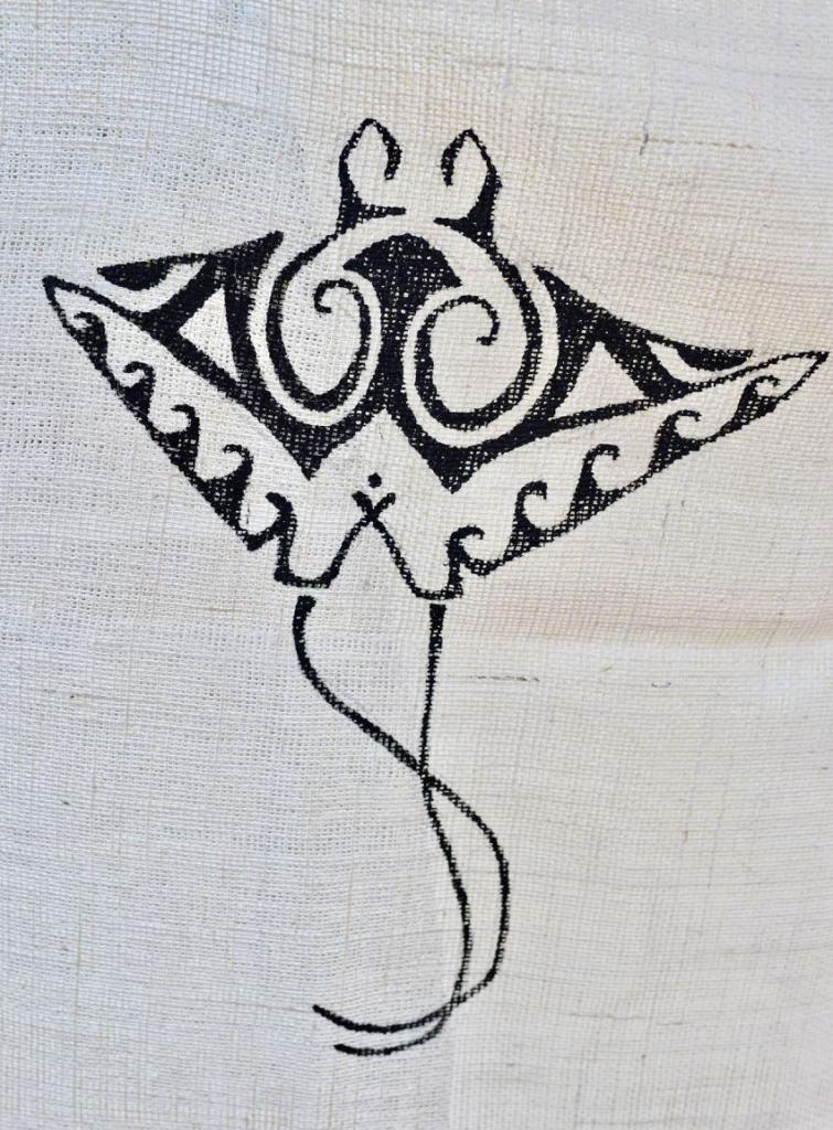Moana's grandmother's tattoo Moana party backdrop