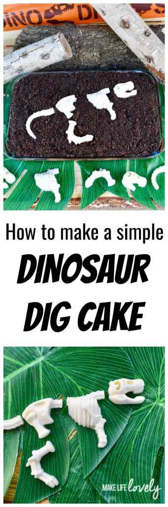 How to make a simple dinosaur dig cake for a dinosaur party