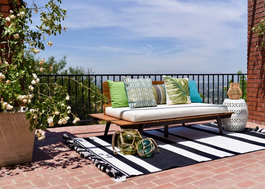 Lance Bass home backyard makeover with World Market