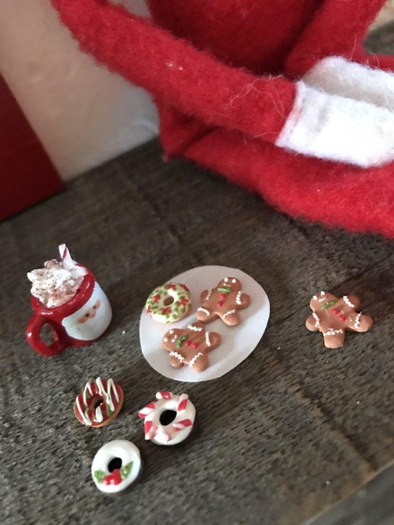 Elf on the shelf miniature food