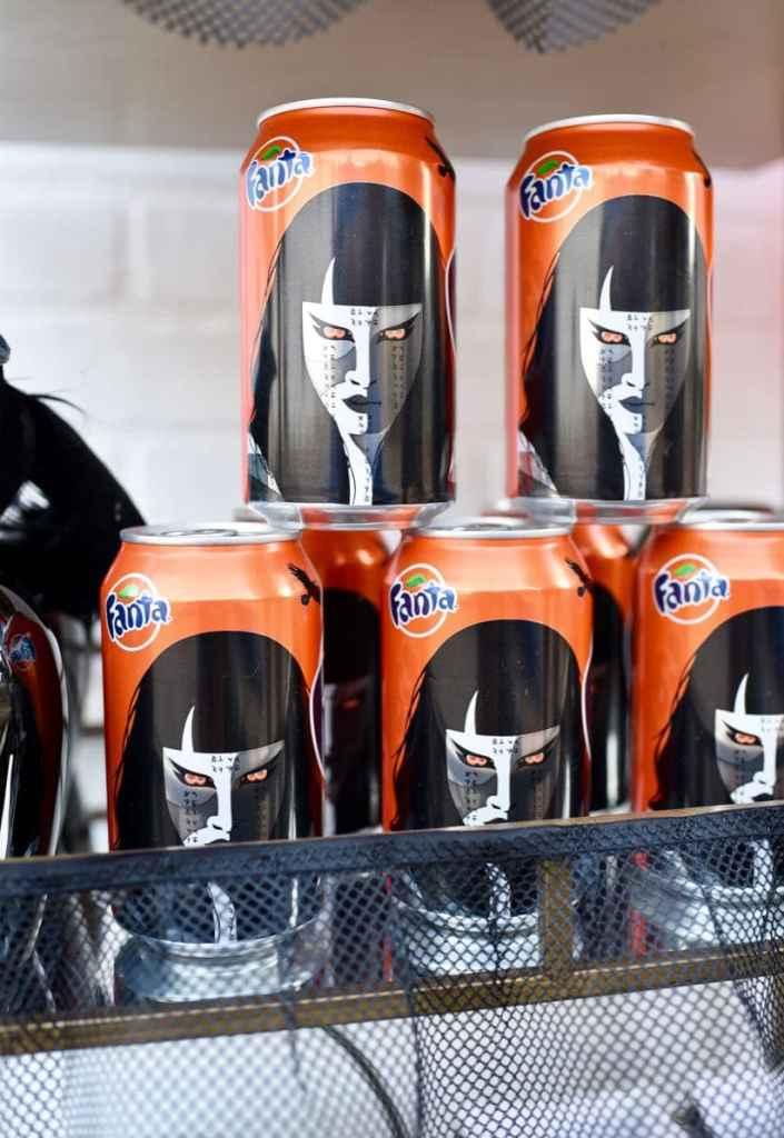Fanta Orange at Halloween movie party