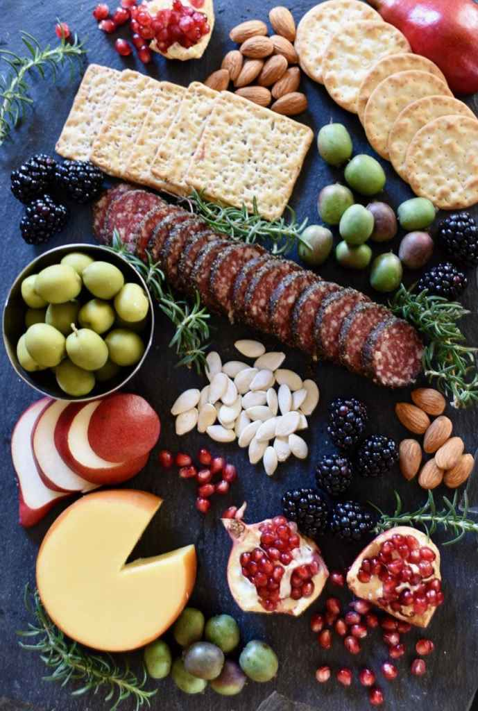 Gothic Halloween dinner party cheese board