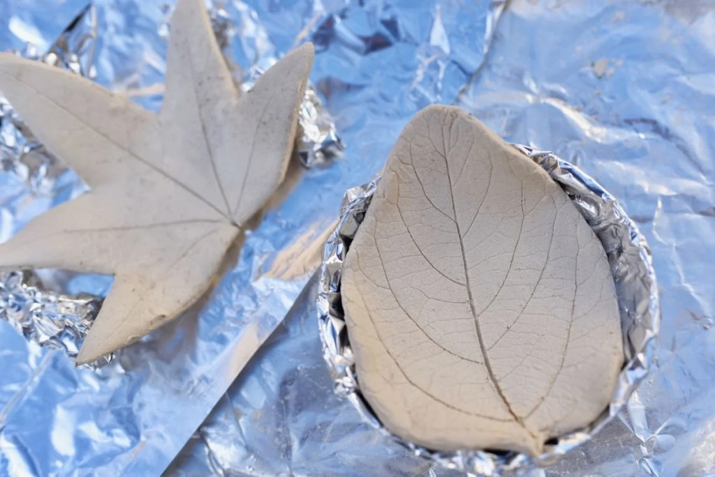 Clay leaf bowls diy, the perfect fall craft for adults and kids