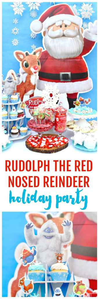 Rudolph the Red-Nosed Reindeer party. You'll love this Rudolph Christmas party featuring your favorite characters from the movie and lots of yummy Christmas treats!