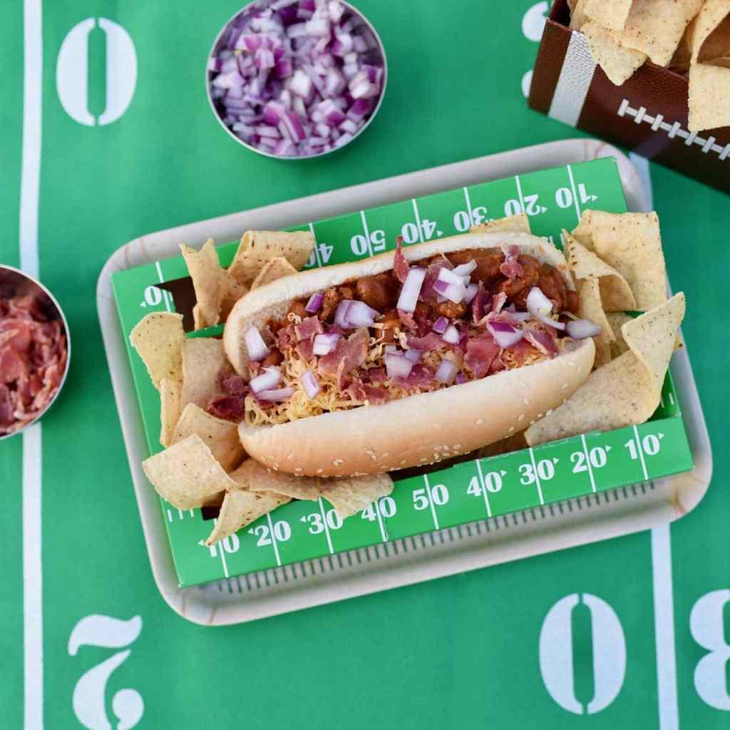 Bacon chili cheese dogs recipe