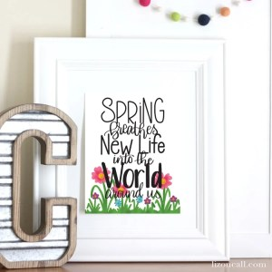 Hand Lettered Spring Printable to Brighten Up Your Home