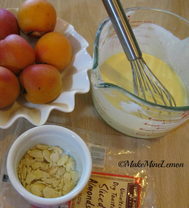 Apricot Tart Filling and Almonds