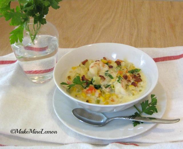 Corn Chowder With Shrimp