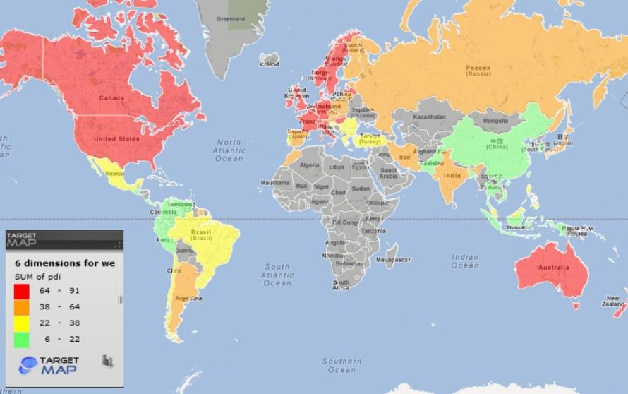 Individualistic vs Collectivist Map