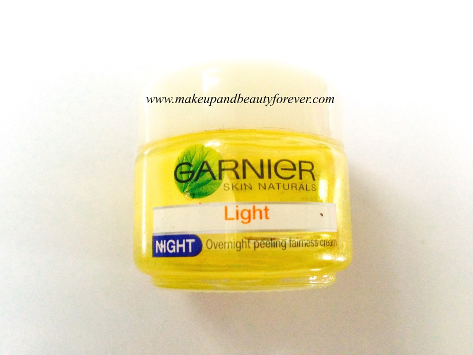 Garnier Skin Naturals Light Night Overnight Peeling Fairness Cream Review 4