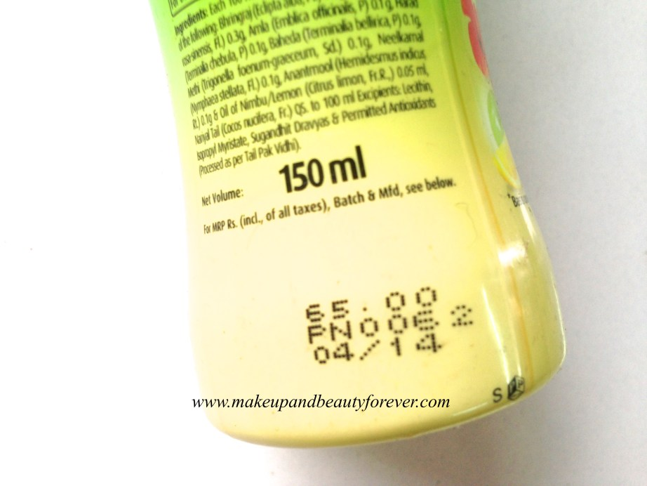 Dabur Vatika Enriched Coconut Oil with Hibiscus Review India